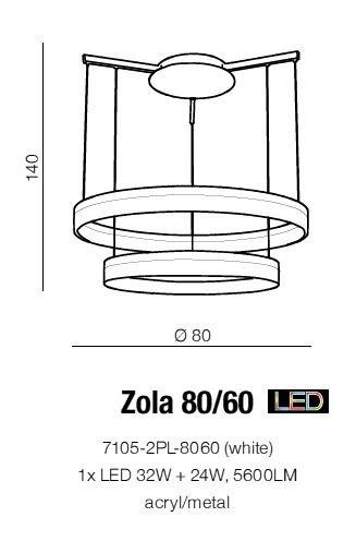 ZOLA 80/60 Lampa wisząca AZzardo