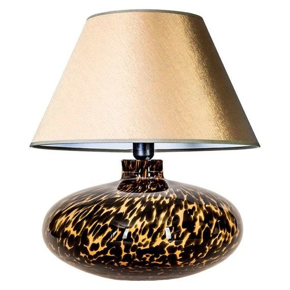 4Concepts Tanzania L005092207 Lampa Stołowa abażur złoto-biały