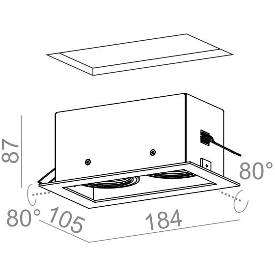 AQform Oprawa Wpuszczana SQUARES biały 50x2 36812-0000-U8-PH-03