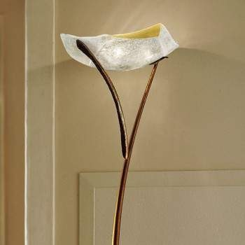 ATENE PI 3/226 bursztynowa/miedziana Lampa podłogowa Sillux
