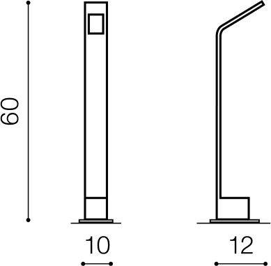 Agape 60 AZ3482 Lampa stojąca zewnętrzna Azzardo