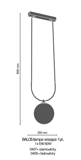 Amplex Balos 0407 Zwis czarno-złoty