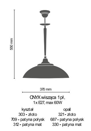 Amplex Onyx 321 Zwis złoty