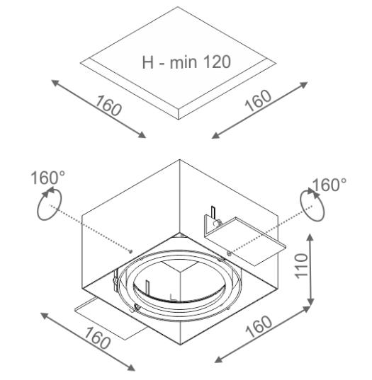 Aquaform SQUARES Oprawa Natynkowa 37511-62