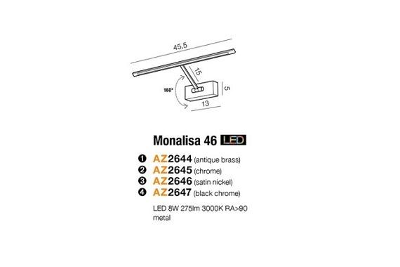 Azzardo Monalisa Lampa Ścienna