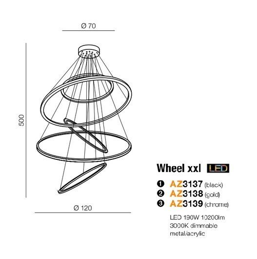 Azzardo Wheel AZ3138 Zwis LED