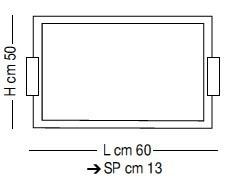 BELLUNO LS P/214 Plafon Sillux 60 cm