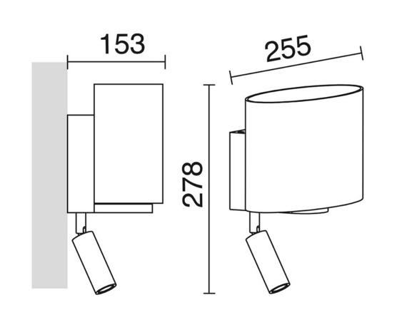 Bay 708A-Y05X1A-32 Novolux Exo Lampa ścienna