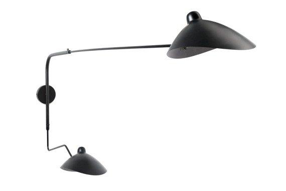 Berella Light Estra 2 Kinkiet duży na wysięgniku czarny loft