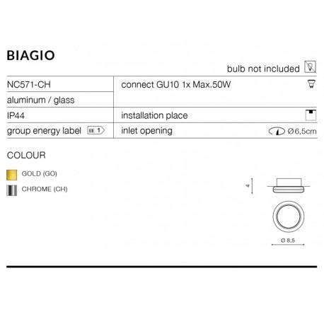 Biagio NC571-GO Złoty AZzardo Oprawa do zabudowy