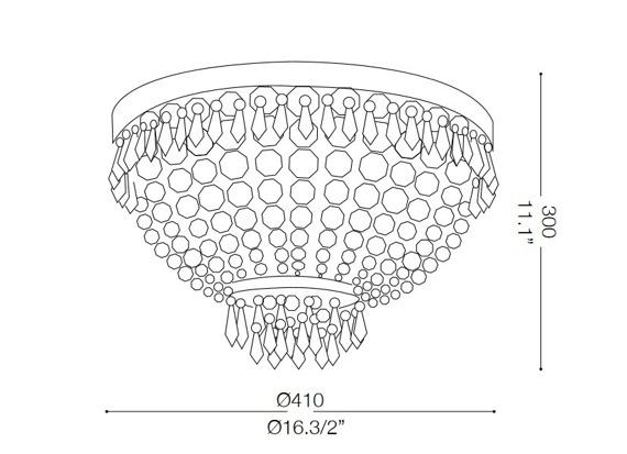 CAESAR PL5 114675 Lampa sufitowa złota Ideal Lux
