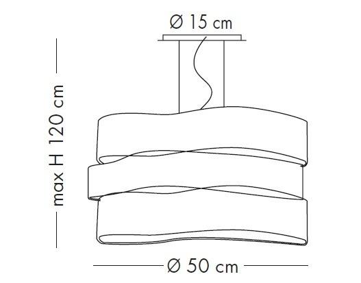 CRAZY SP 1037/50S satynowa Oprawa Wisząca Lampade Italiane 50 cm