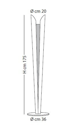 DAISHO PI 1058/175 biała Lampa podłogowa Lampade Italiane LED