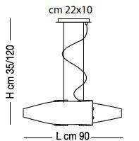 DETROIT SP8/218 90cm Oprawa Wisząca Sillux