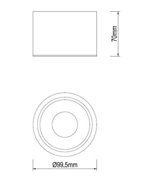 Dann Lux Design MIJA WH10 DLD5241 Reflektorek Ledowy