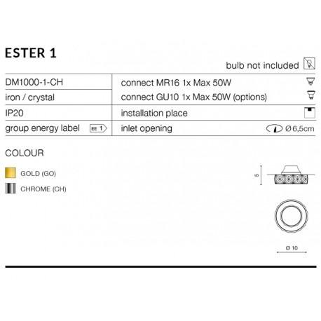 Ester 1 DM1000-1-CH chrom AZzardo Oprawa do zabudowy