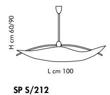 FIRENZE SP S212 bursztynowy/miedziany 100 cm Oprawa Wisząca Sillux