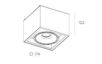 Gran Cube 8216.04 Plafon BPM Lighting