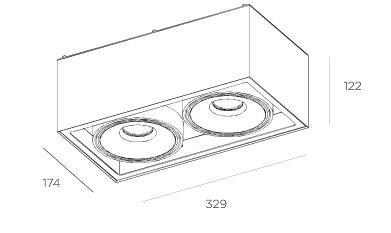 Gran Cube 8217.06 Plafon BPM Lighting