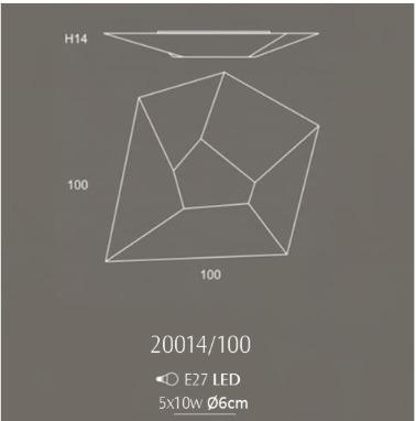HALLEY 20014/100 Plafon OLE