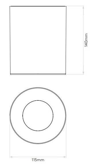 Kos Round  LED 1326019 Plafon Astro