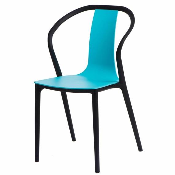 Krzesło Bella czarne/niebieskie