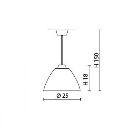 Lampa AV Mazzega MIRROR 25 cm SO3149 biały