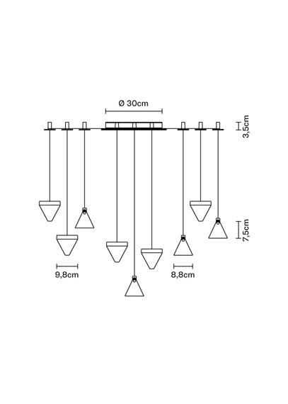 Lampa Fabbian Tripla F41 G05 76