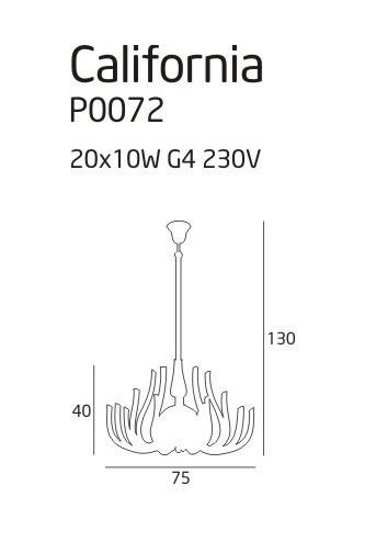 Lampa MaxLight CALIFORNIA P0072