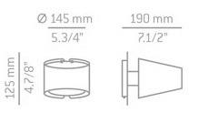 Lampa Ścienna Estiluz Mikonos A-2500 nickel