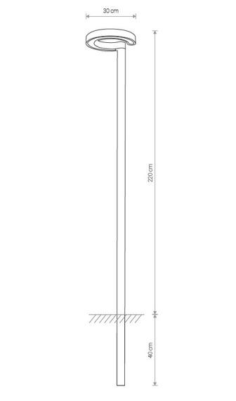 Lampa Stojąca Zewnętrzna Nowodvorski Pole 9185