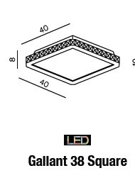Lampa Sufitowa Gallant 38 SQUARE AZ1594 LED Azzardo