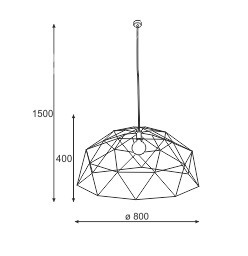 Lampa Wisząca Cleoni Batista 1339H1T