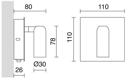 Lampa ścienna Dores 700A-L0106B-32 Novolux Exo
