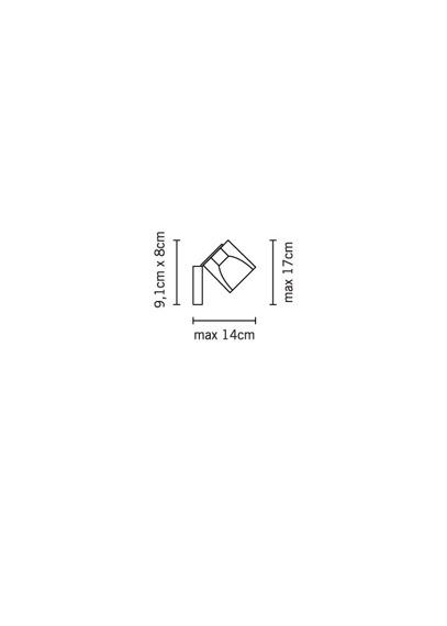 Lampa ścienna Fabbian CUBETTO WHITE D28 G03 01