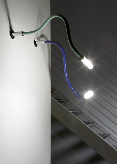 Lampa ścienna Fabbian SNAKE D63 G01 43 green