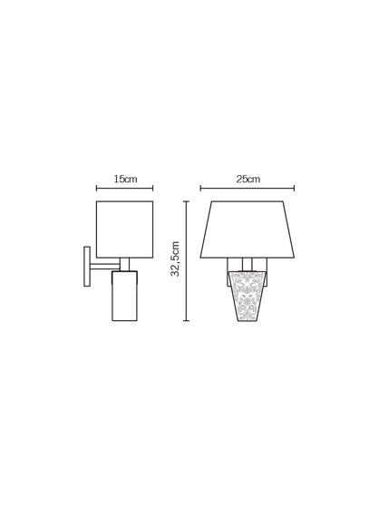 Lampa ścienna Fabbian VICKY D69 D03 02 black