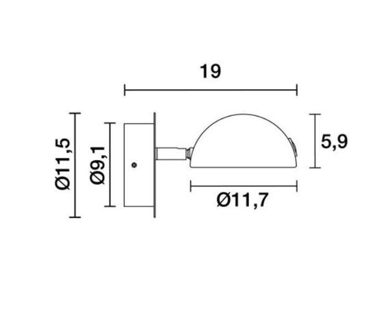Lampa ścienna Novolux Exo Diden 592A-L0105A-03