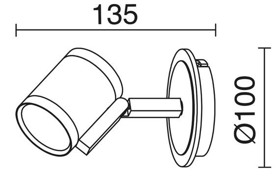 Lampa ścienna Novolux Exo Elke 714A-G21X1A-32
