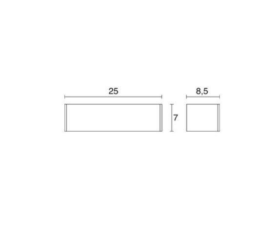 Lampa ścienna Novolux Exo Rett 504A-L0108A-01