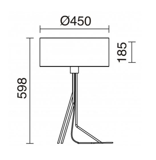 Lampa stolikowa Diagonal 855B-G05X1A-37 Novolux Exo