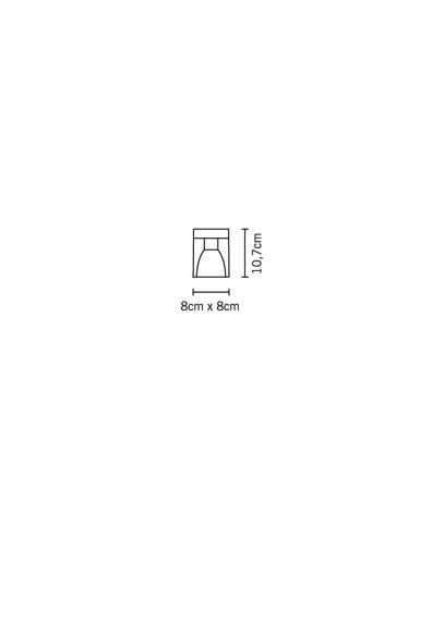 Lampa sufitowa Fabbian CUBETTO CRYSTAL D28 E01 00