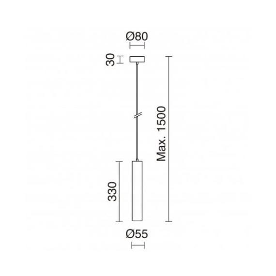 Lampa wisząca Tania 906B-G21X1A-37 Novolux Exo
