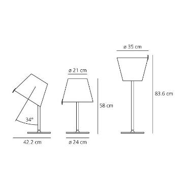 Lampka Melampo 0315010A Artemide