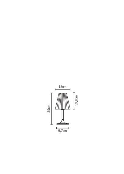 Lampka stojąca Fabbian FLOW D87 B01 01 white