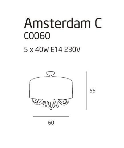 MaxLight AMSTERDAM C0060 Plafoniera biała