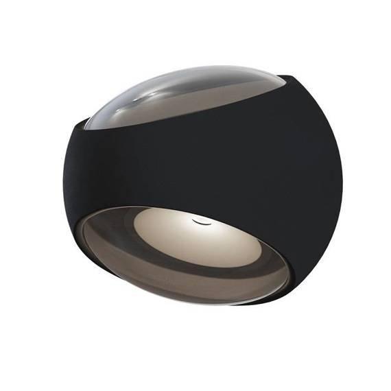 Maytoni Stream O032WL-L6B3K Czarna lampa ścienna na zewnątrz