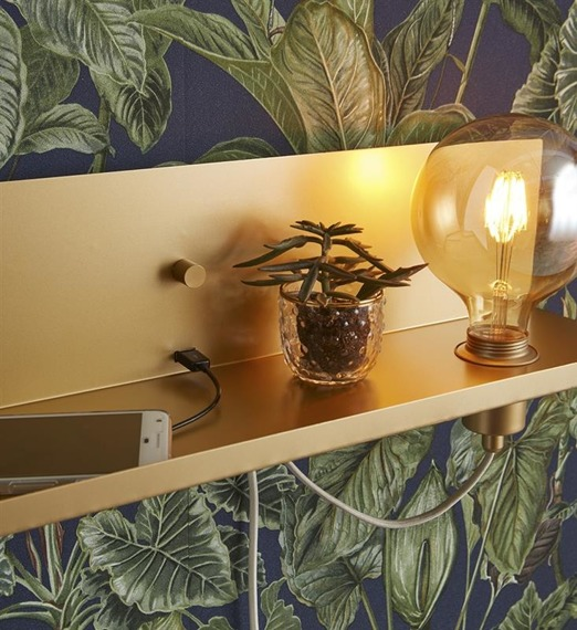 Multi USB 107791 Markslojd Lampa Ścienna złota