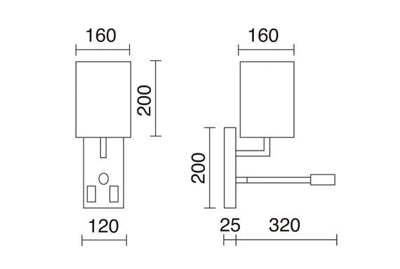 Nuno 841A-Y05X1A-35 Novolux Exo Lampa ścienna