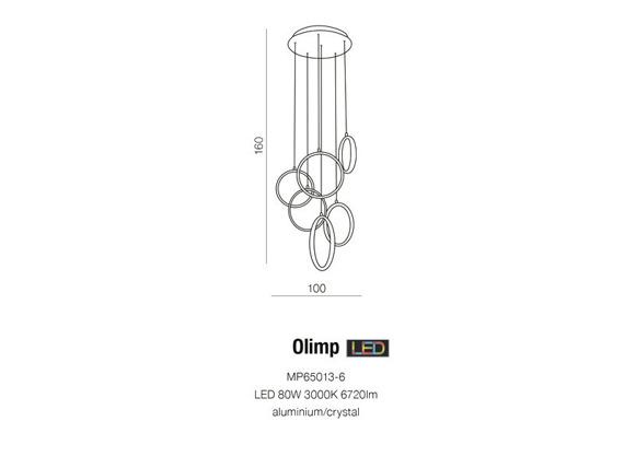 Olimp MP65013-6 Azzardo Lampa wisząca